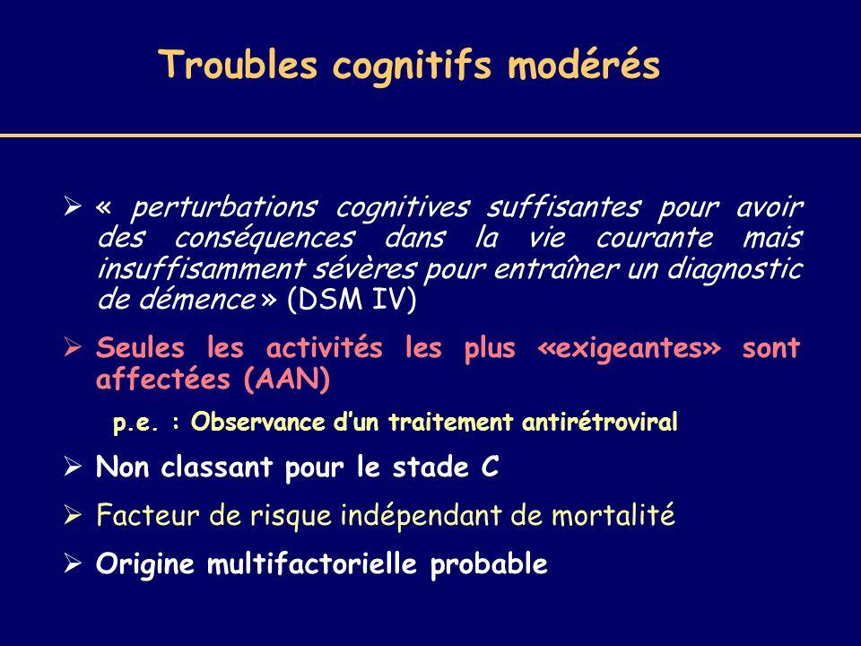 Troubles cognitifs modérés
