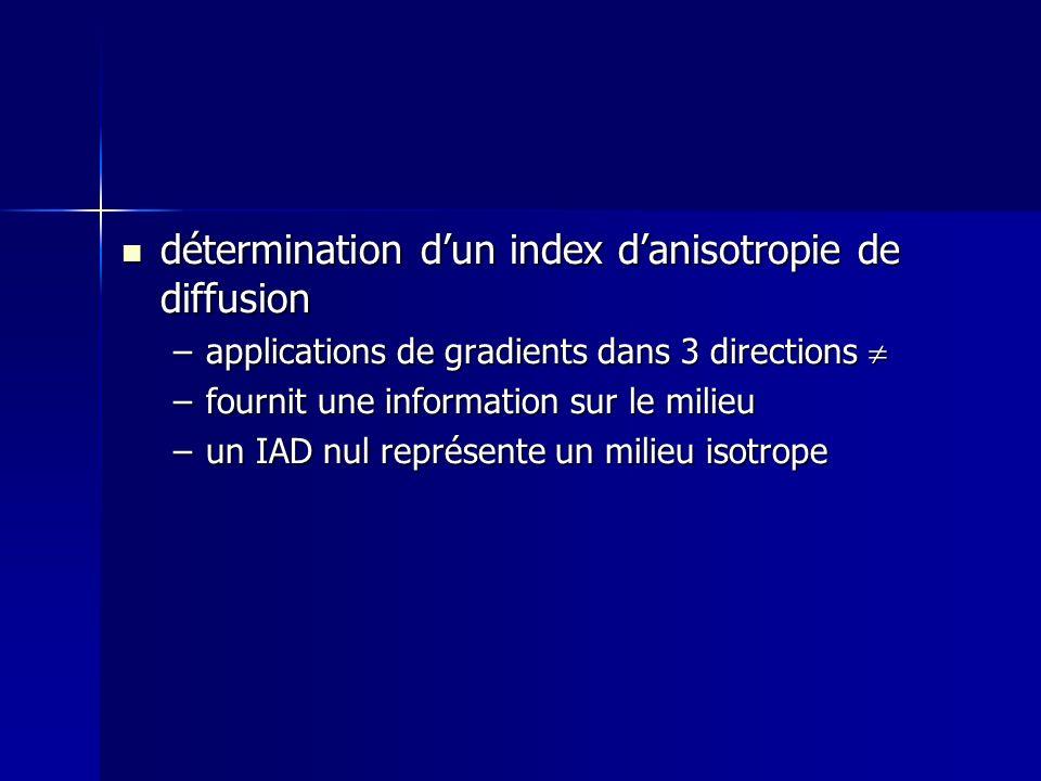 détermination d'un index d'anisotropie de diffusion