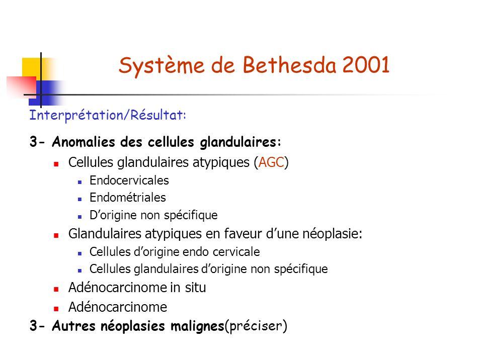 Système de Bethesda 2001 Interprétation/Résultat: