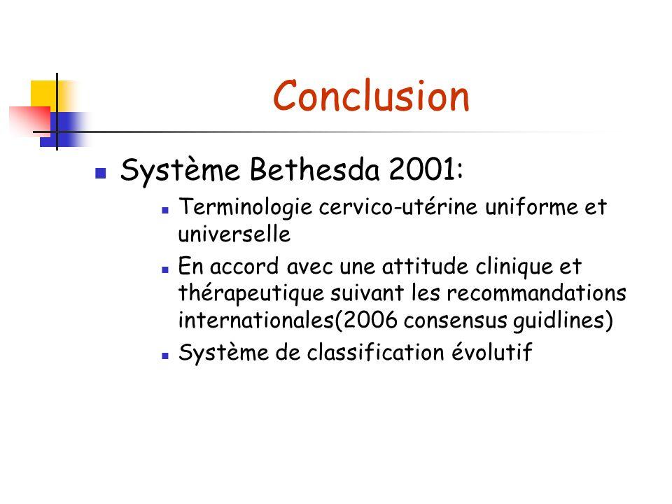 Conclusion Système Bethesda 2001: