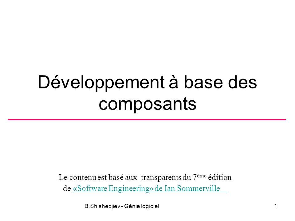 Développement à base des composants