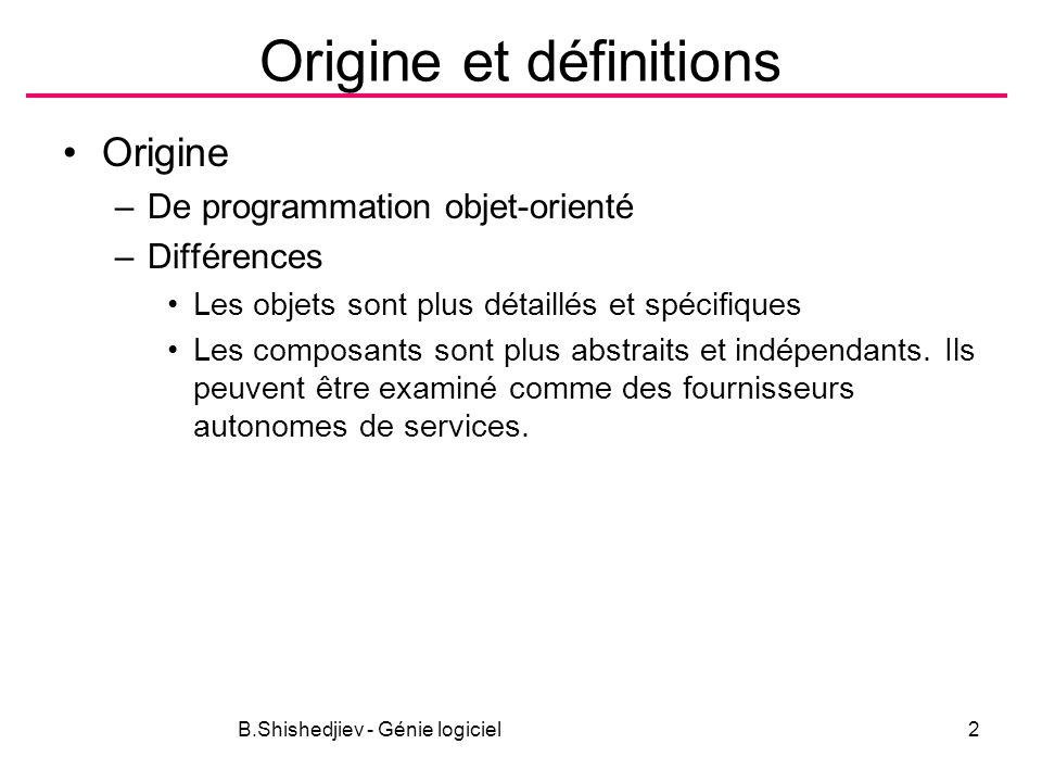 Origine et définitions