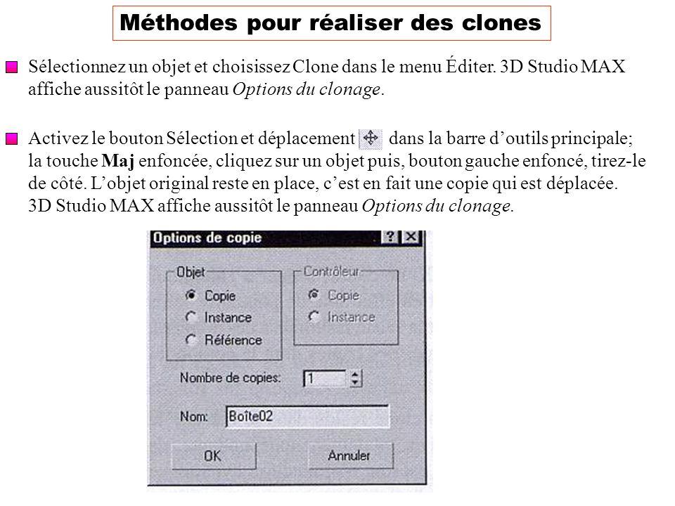Méthodes pour réaliser des clones