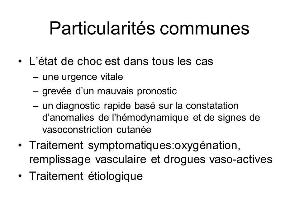 Particularités communes