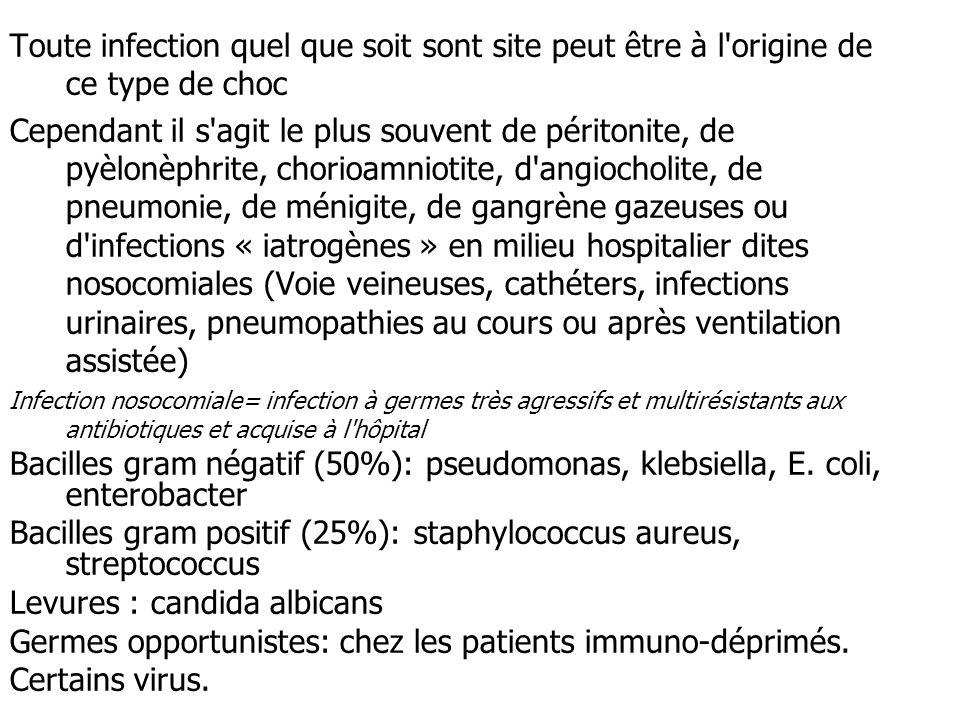 Bacilles gram positif (25%): staphylococcus aureus, streptococcus