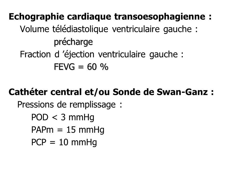 Echographie cardiaque transoesophagienne :