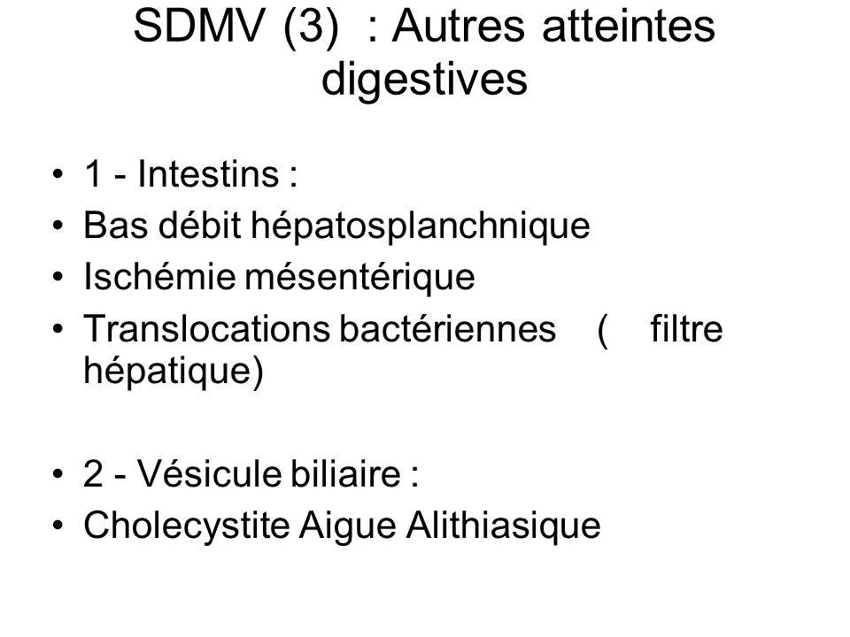 SDMV (3) : Autres atteintes digestives