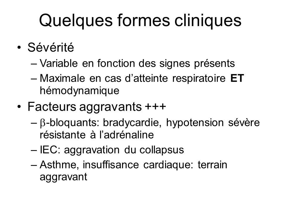 Quelques formes cliniques