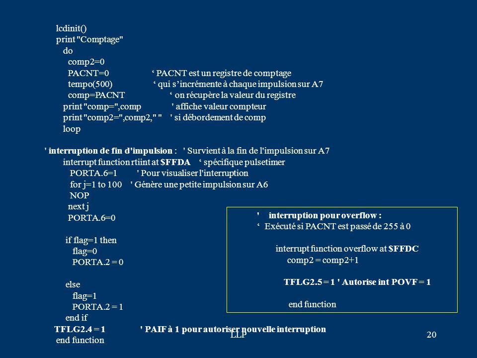 PACNT=0 ' PACNT est un registre de comptage