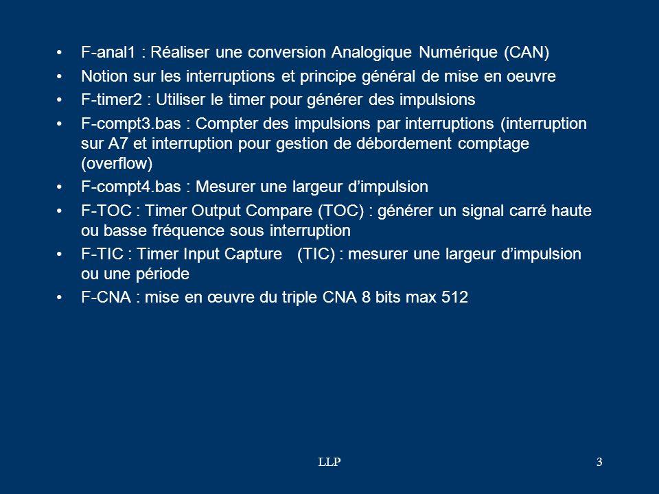 F-anal1 : Réaliser une conversion Analogique Numérique (CAN)