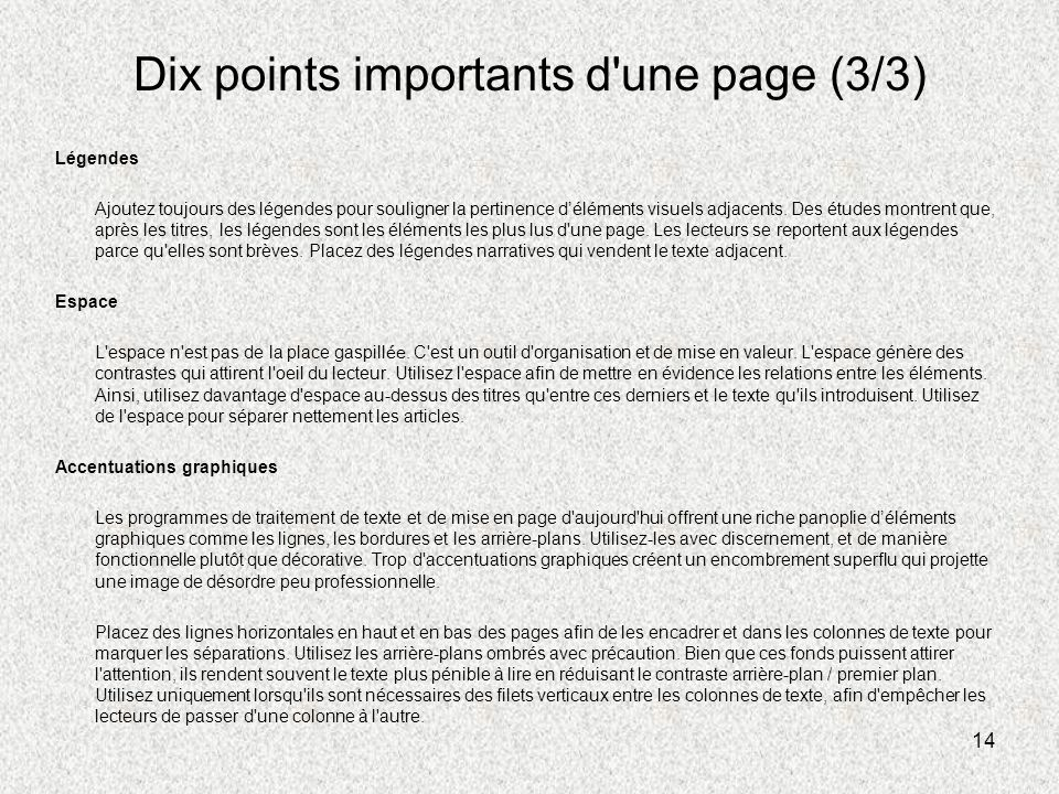 Dix points importants d une page (3/3)