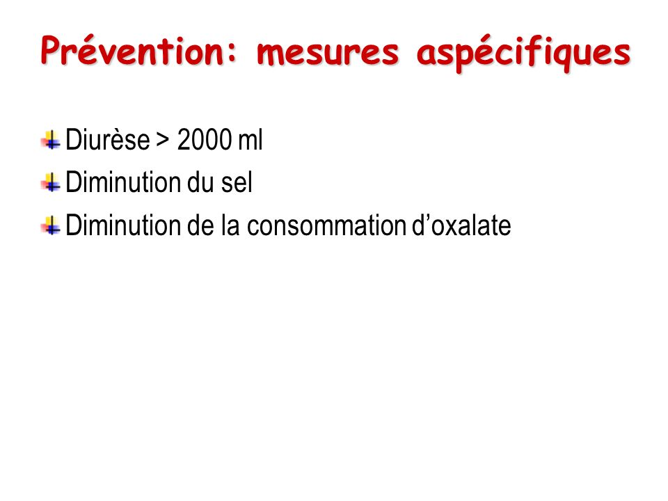 Prévention: mesures aspécifiques