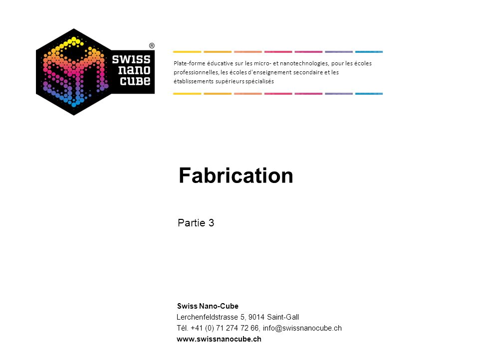 3. Fabrication