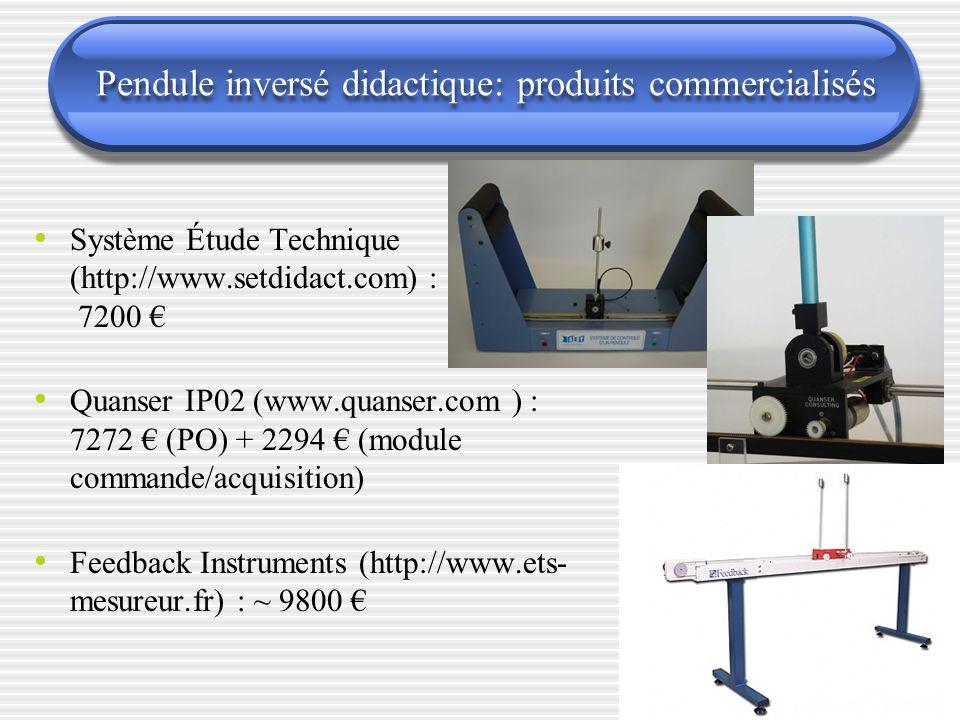 Pendule inversé didactique: produits commercialisés