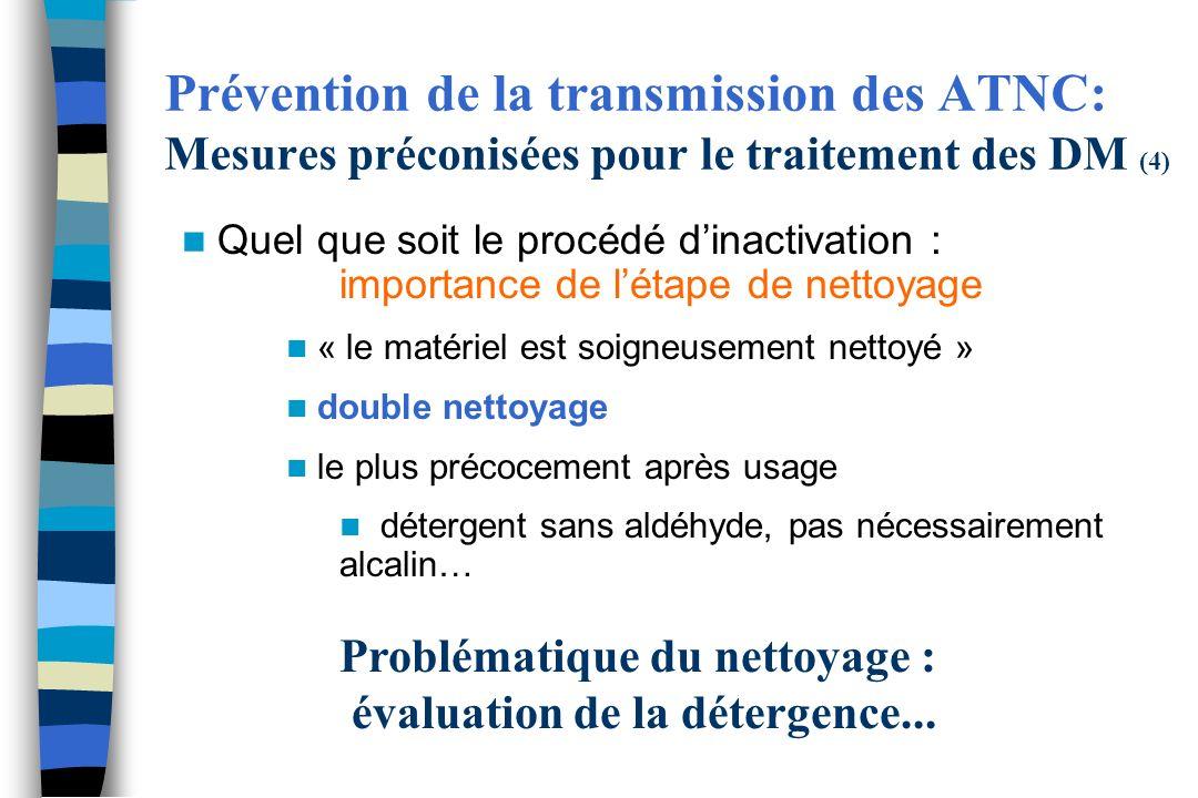 Problématique du nettoyage : évaluation de la détergence...