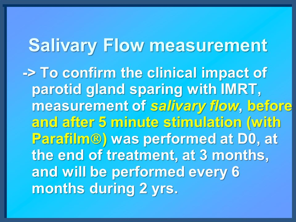 Salivary Flow measurement