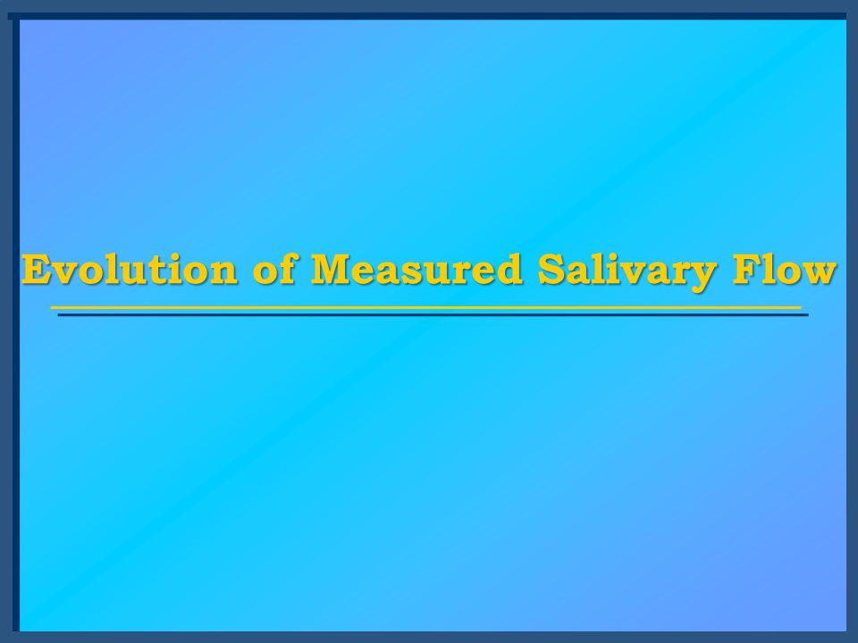 Evolution of Measured Salivary Flow