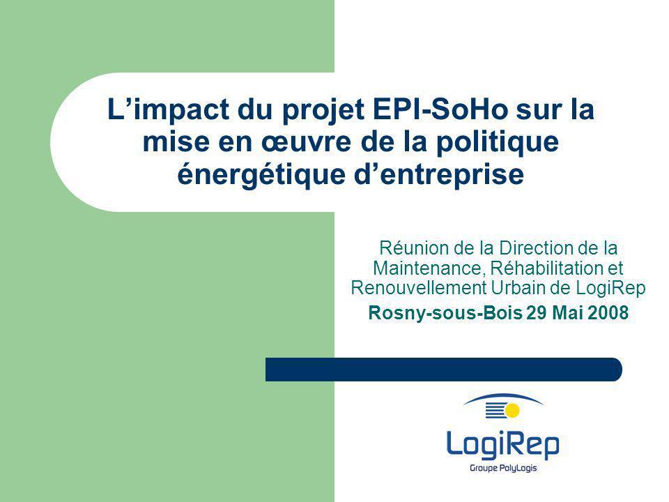 L'impact du projet EPI-SoHo sur la mise en œuvre de la politique énergétique d'entreprise