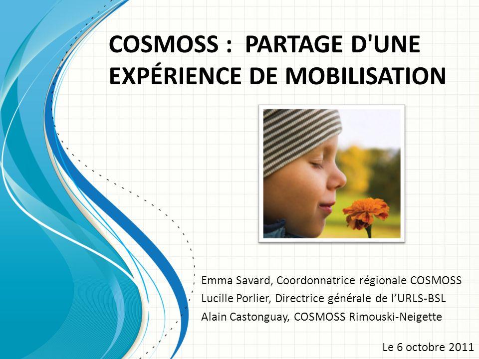 COSMOSS : PARTAGE D UNE EXPÉRIENCE DE MOBILISATION