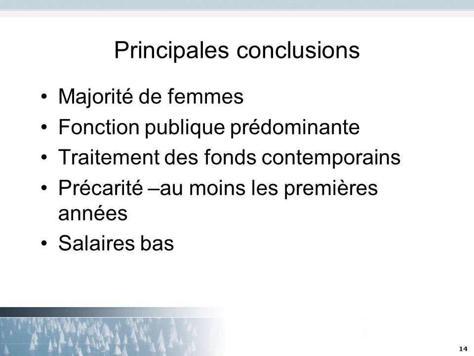 Principales conclusions