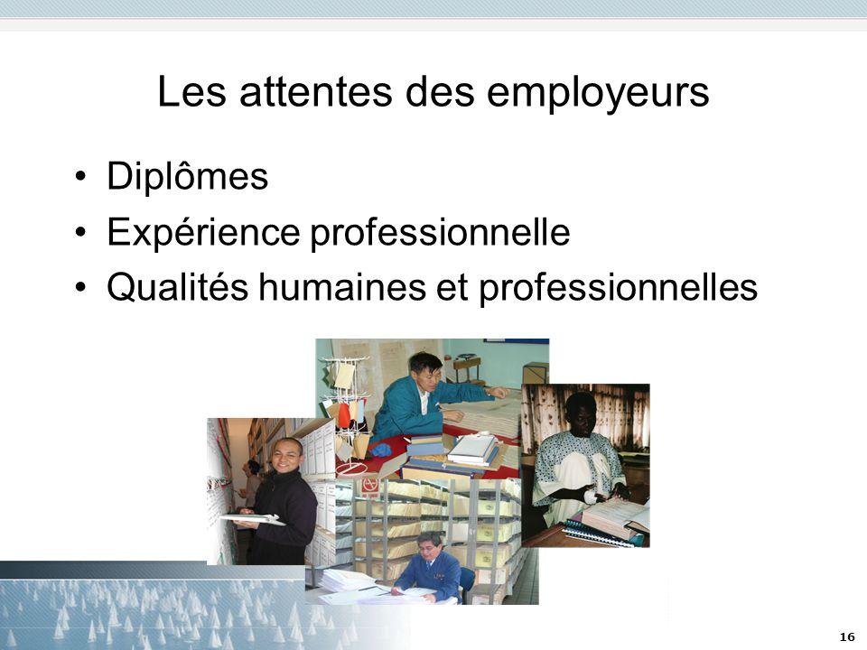 Les attentes des employeurs