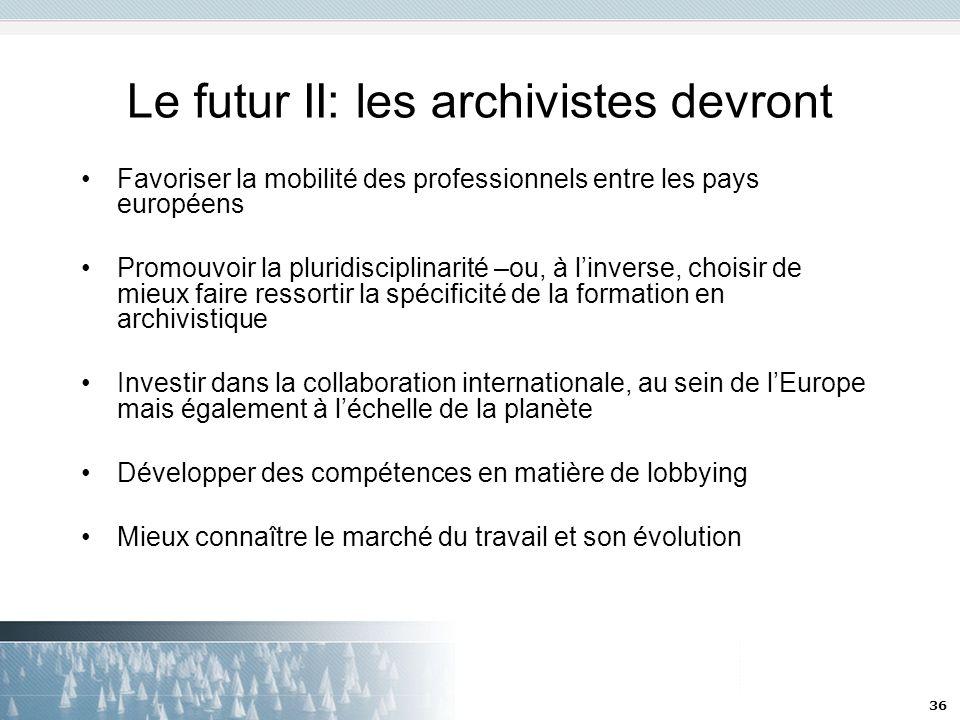 Le futur II: les archivistes devront