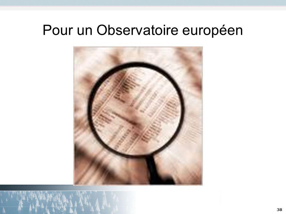 Pour un Observatoire européen