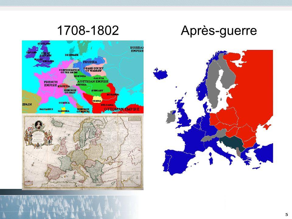 1708-1802 Après-guerre