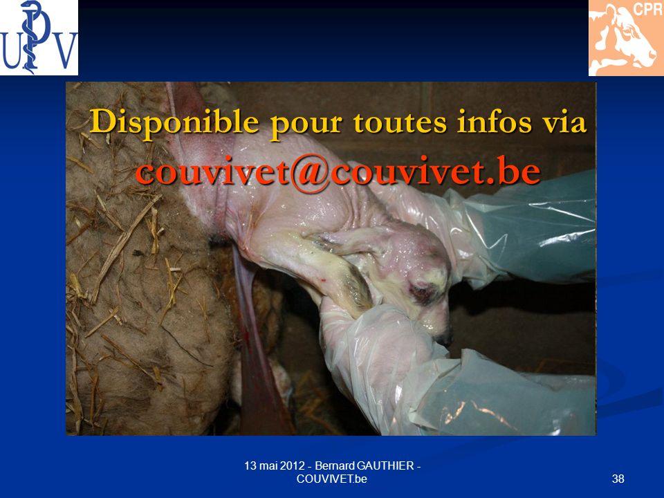 Disponible pour toutes infos via couvivet@couvivet.be