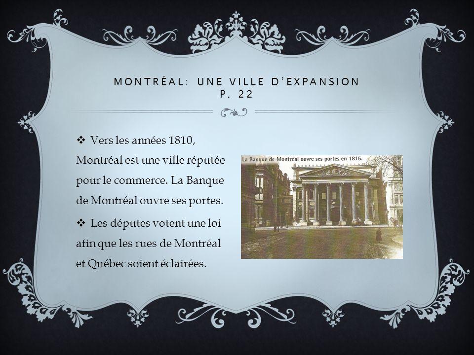 Montréal: une ville d'expansion p. 22