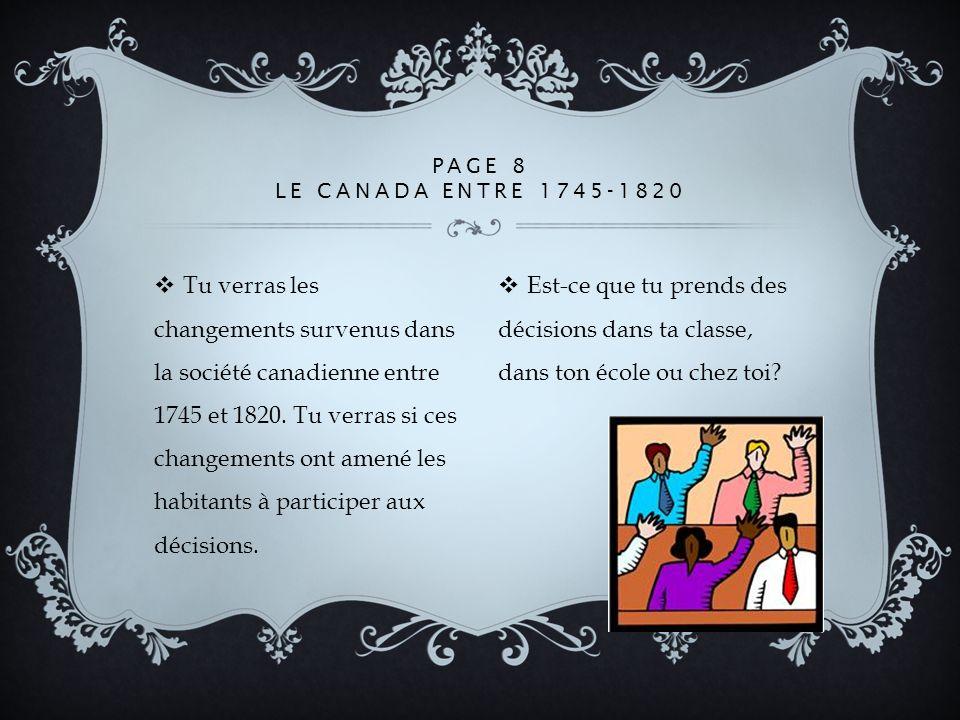 Page 8 Le Canada entre 1745-1820