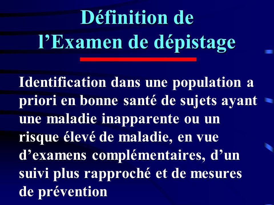 Définition de l'Examen de dépistage