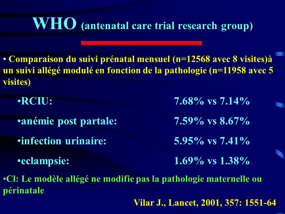 WHO (antenatal care trial research group)