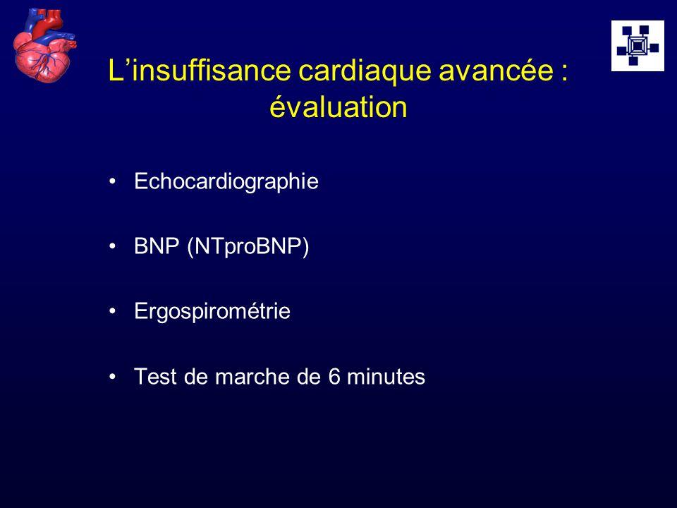 L'insuffisance cardiaque avancée : évaluation