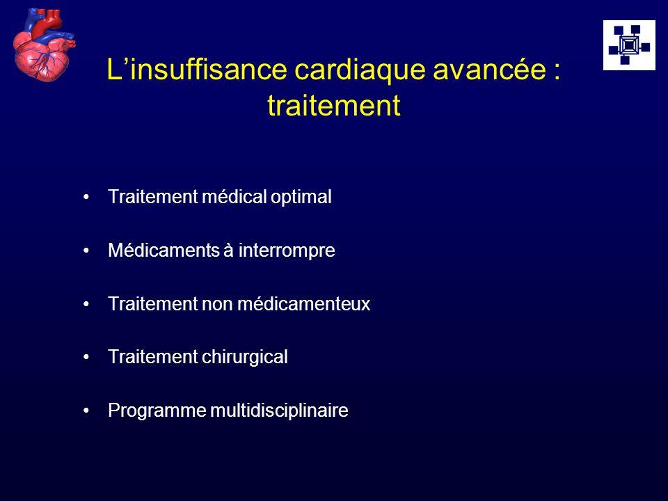 L'insuffisance cardiaque avancée : traitement