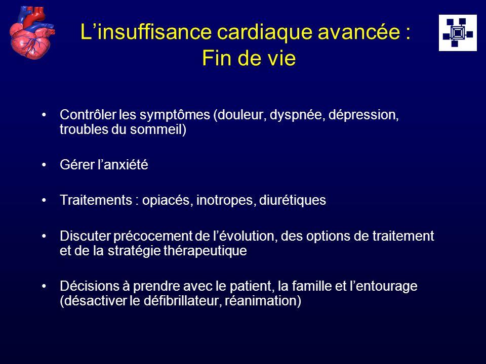 L'insuffisance cardiaque avancée : Fin de vie