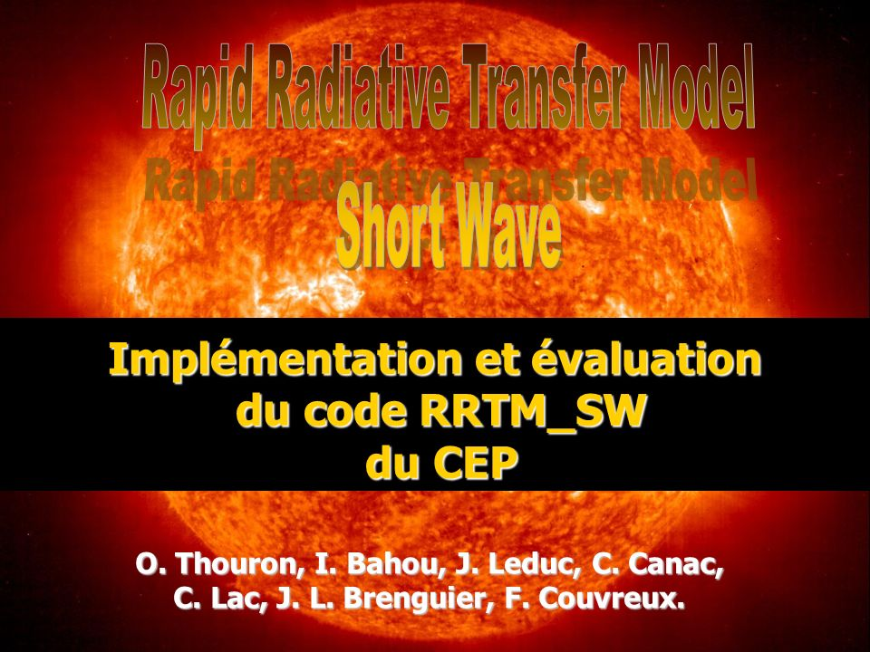 Rapid Radiative Transfer Model Short Wave