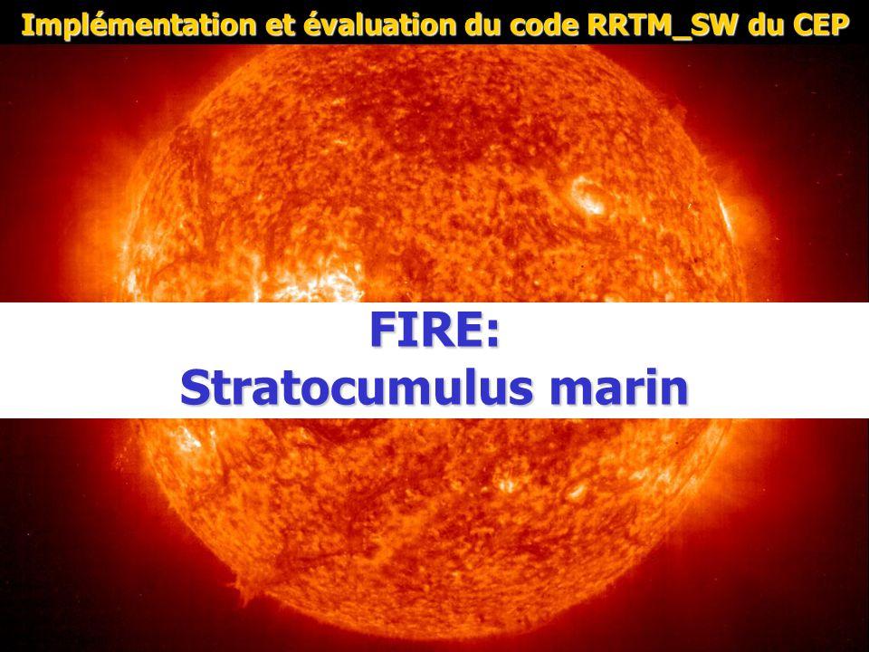 FIRE: Stratocumulus marin