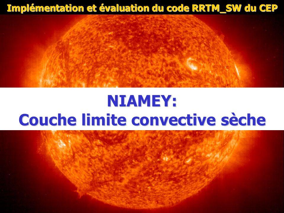 NIAMEY: Couche limite convective sèche