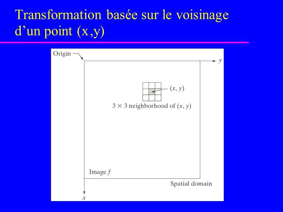 Transformation basée sur le voisinage d'un point (x ,y)