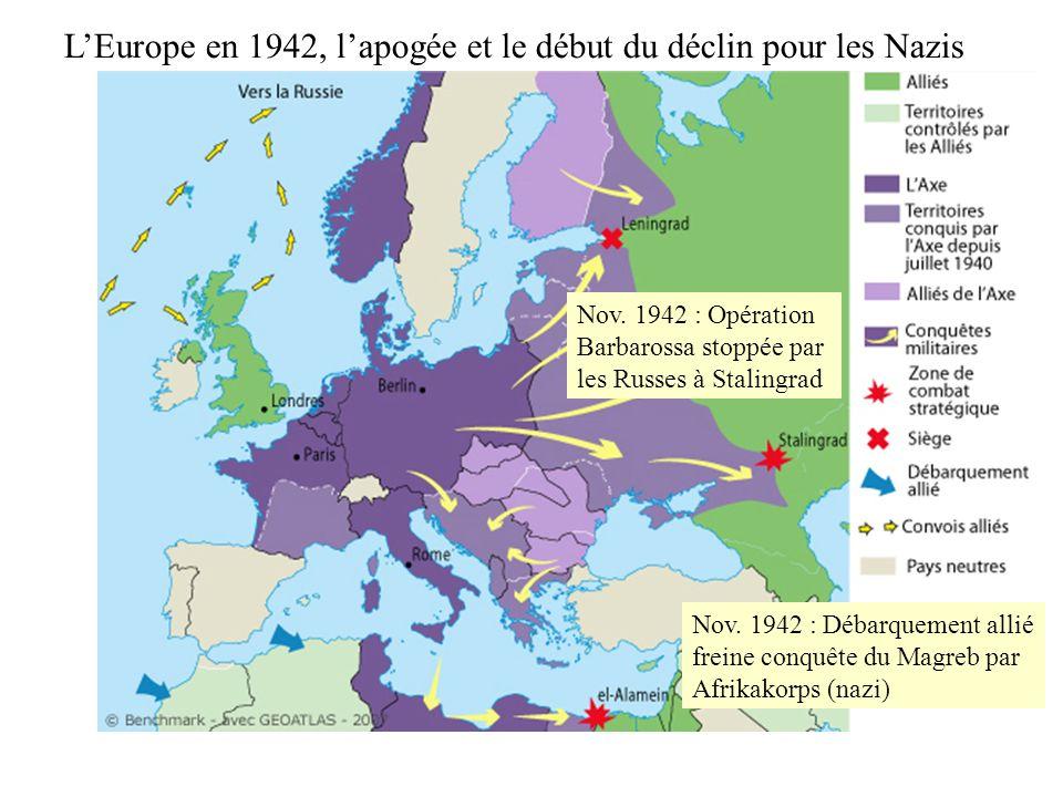 L'Europe en 1942, l'apogée et le début du déclin pour les Nazis