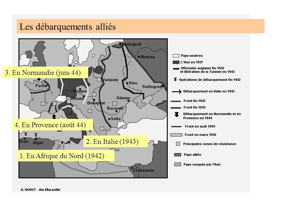 Les débarquements alliés