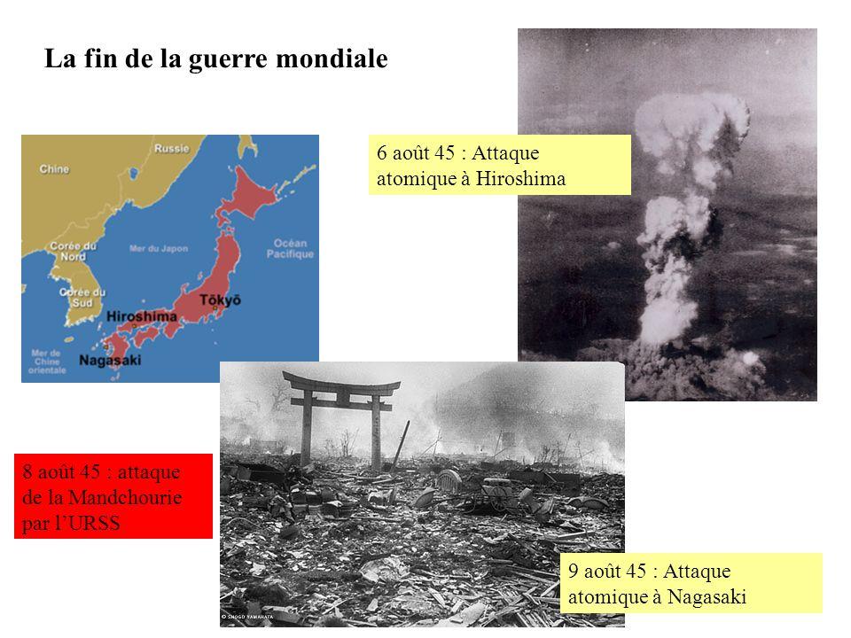 La fin de la guerre mondiale