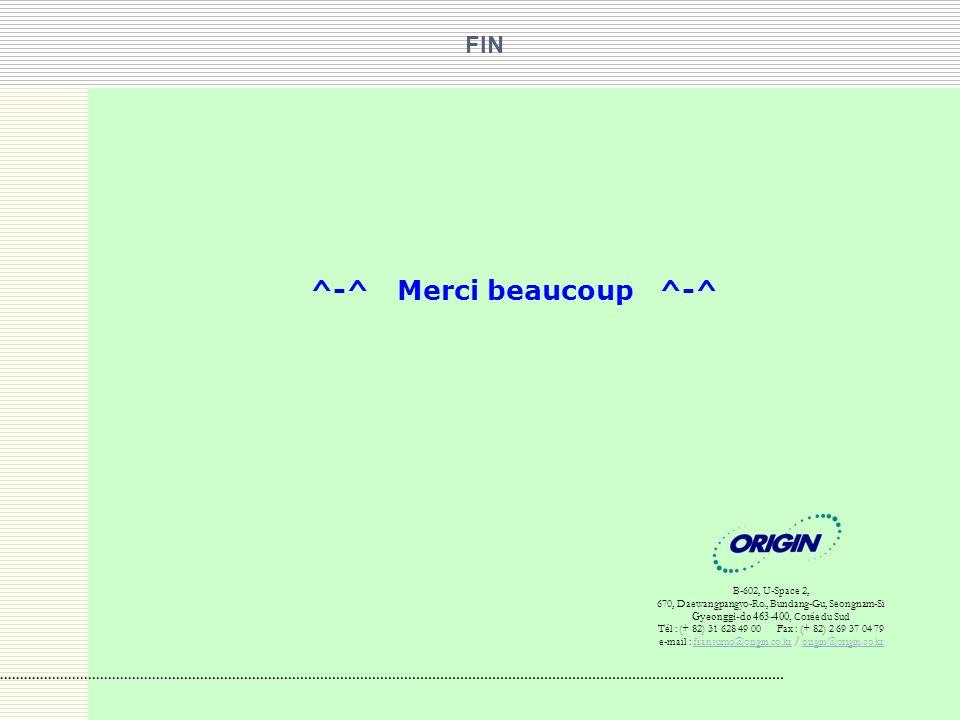 ^-^ Merci beaucoup ^-^ FIN B-602, U-Space 2,
