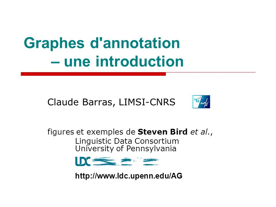 Graphes d annotation – une introduction