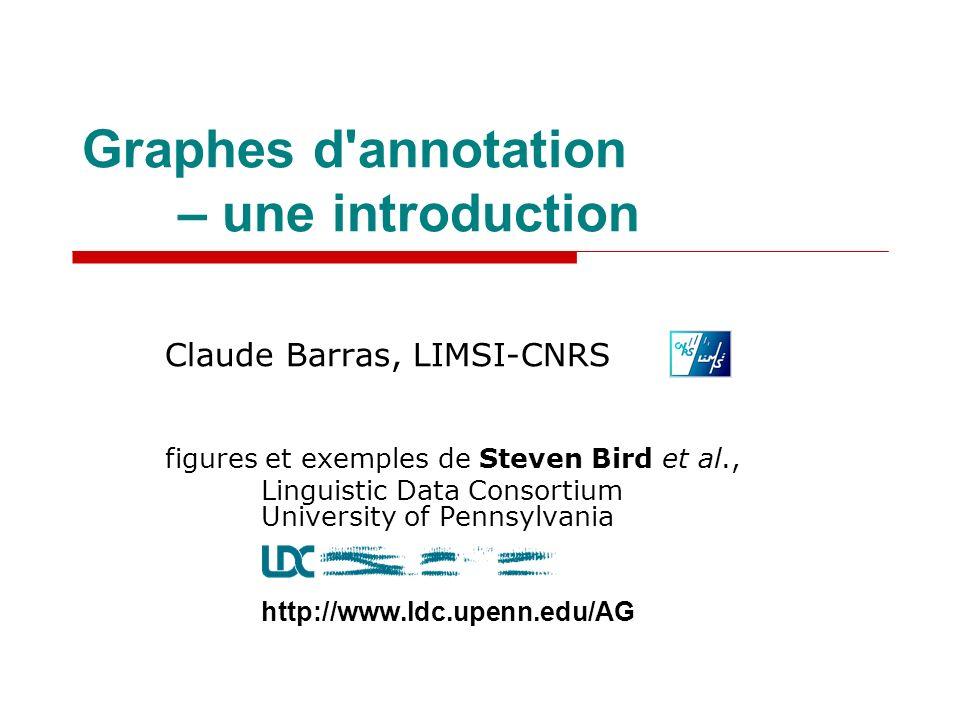 Graphes d annotation – une introduction