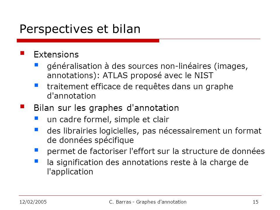 C. Barras - Graphes d annotation