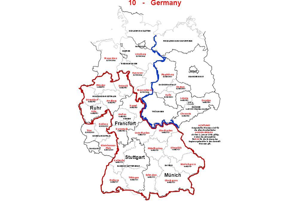 10 - Germany Ruhr Francfort Stuttgart Münich