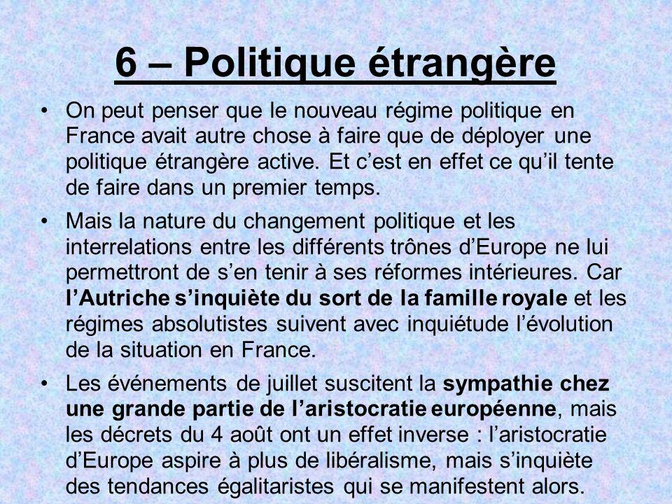 6 – Politique étrangère