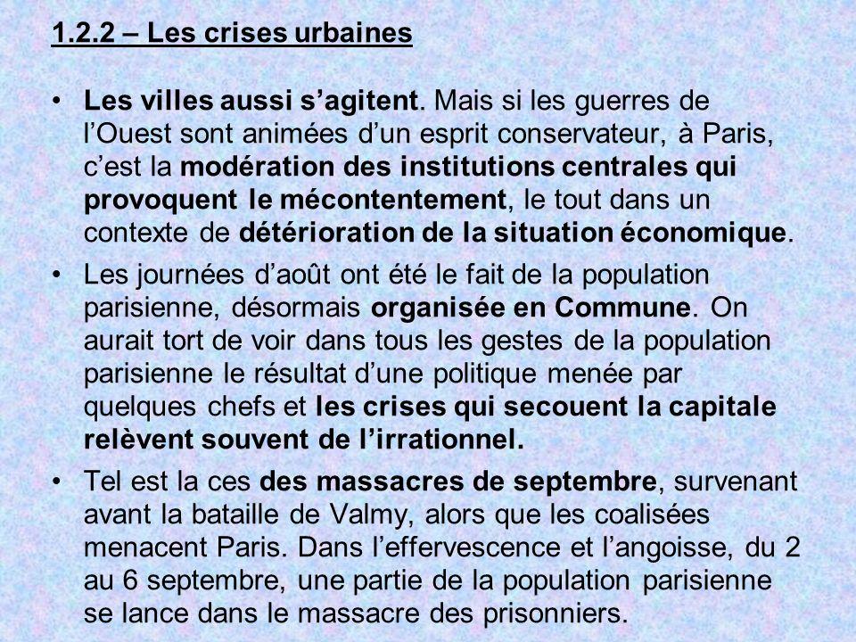 1.2.2 – Les crises urbaines